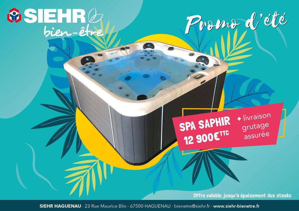 Promo d'été Siehr bien-être : Spa Saphir 12900€